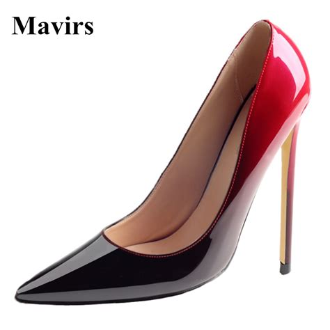 Heels Suede 2warna 17 mavirs 2017 new fashion patent leather suede pointed toe
