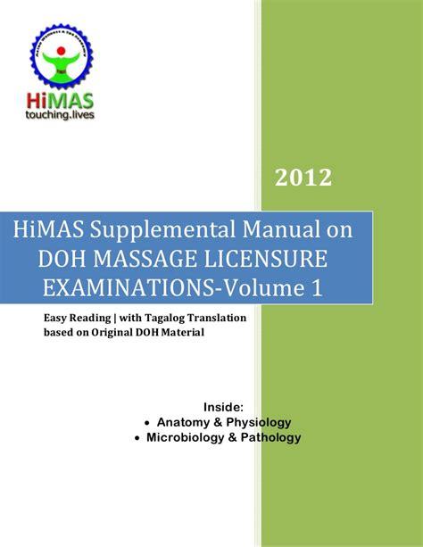 supplemental k 1 himas supplemental manual on doh licensure exams