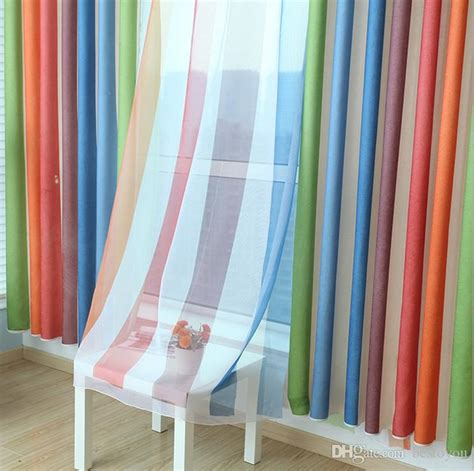 kids room curtains online 2018 rainbow curtains sheers boys girls bedroom curtains