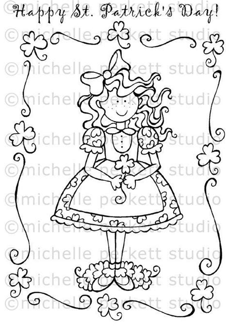 irish girl coloring page 1000 images about cookie cake stencils templates on