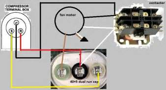 5 best images of dual capacitor wiring diagram ac fan