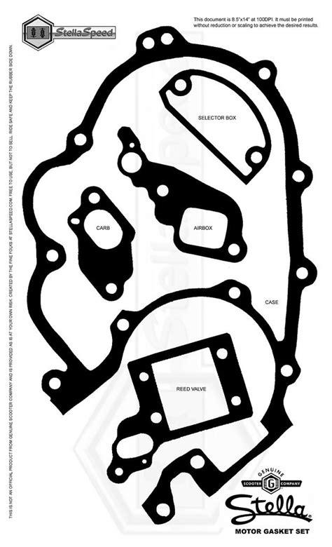 printable gasket templates modern vespa p series shift box gasket template