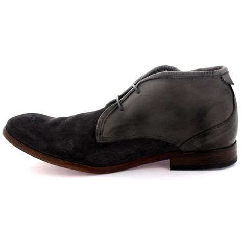 mens h by husdon cruise laced suede office work shoes