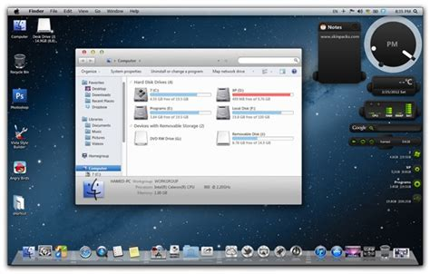lion theme download for windows 7 os x mountain lion theme transformation pack for windows