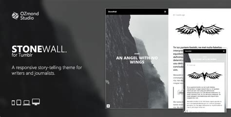 Free Tumblr Themes For Journalists | stonewall a responsive tumblr theme for writers and