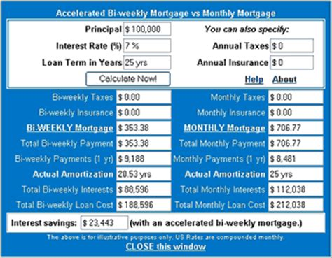bi weekly mortgage calculator extra payment us mortgage calculator in javascript and monthly loan