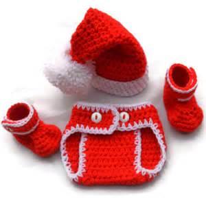 Crochet Knit Newborn Baby Christmas Red » Ideas Home Design
