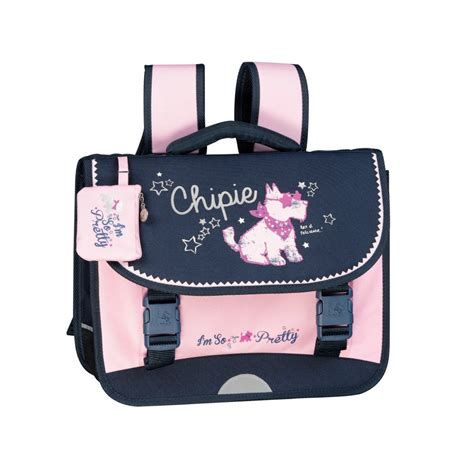 Tablette Bois 3487 by Chipie Rock Cartable Fille Primaire 36 Cm Et Bleu