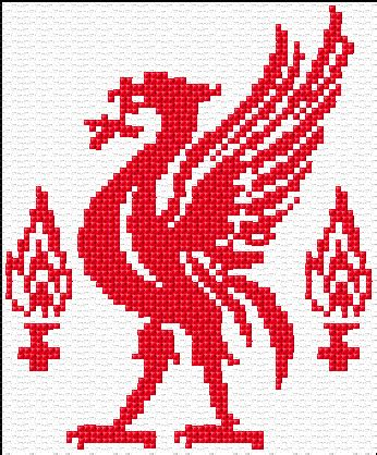 pattern maker liverpool cross stitch liverpool logo xstitch chart design