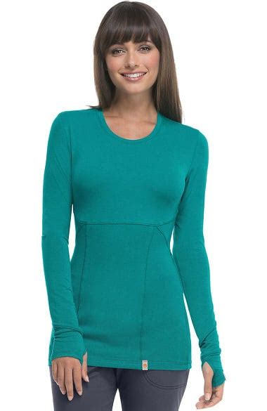 Sheer One Happy by Code Happy S Neck Sleeve Knit T Shirt