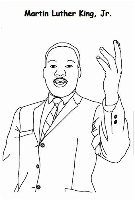 coloring page of martin luther king jr coloring page dr