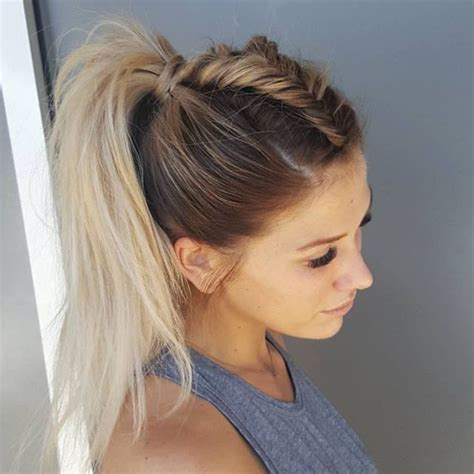 mohawk hair long in the front best 25 braid ponytail ideas on pinterest braided