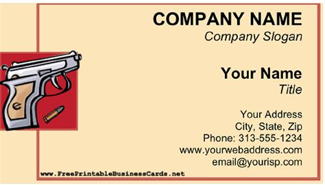 gun shop business card template gun store business cards image collections card design