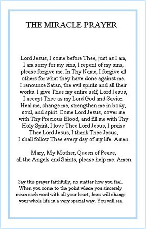The Miracle Speech The Miracle Prayer Miracle Prayer And God On