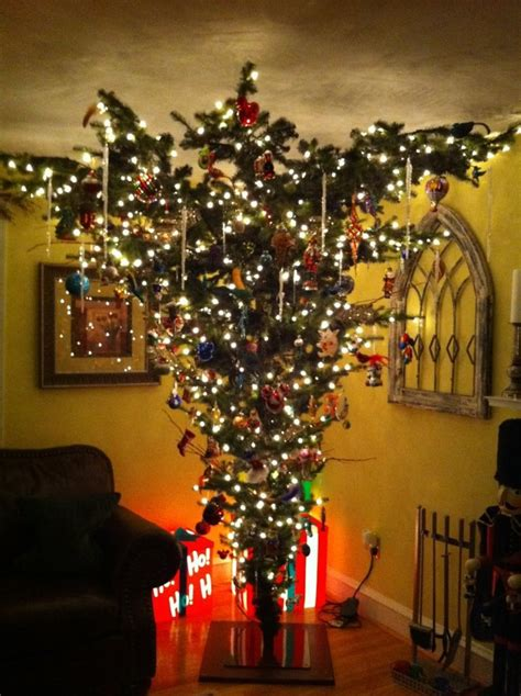 upside down christmas trees christmas decor pinterest upside down christmas tree not sure about this