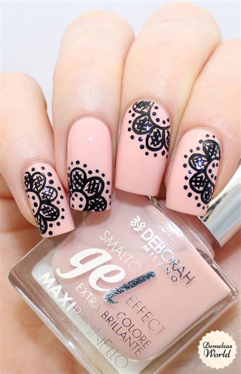 easy nail art lace lace nail art video tutorial for deborah milano beauty
