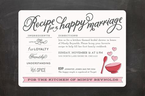 bridal shower recipe invitations 23 bridal shower invitation ideas that you re going to