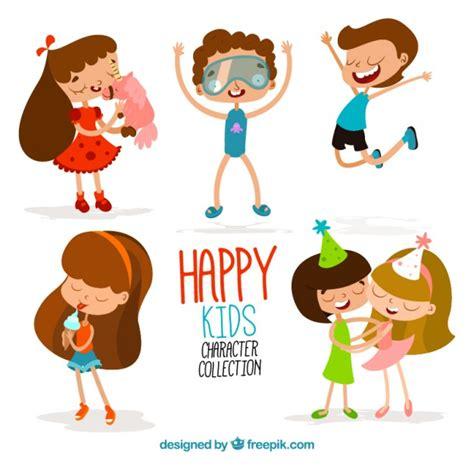 imagenes de niños felices animados colecci 243 n divertida de ni 241 os felices de dibujos animados