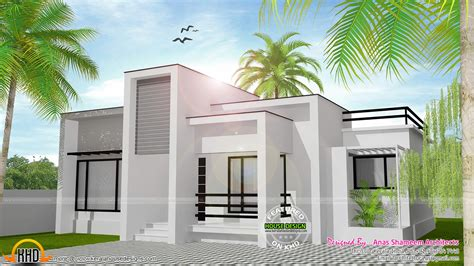 kerala home design single floor low cost 978 sq ft flat roof single floor home kerala home design