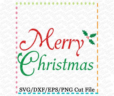 merry christmas svg dxf eps creative appliques