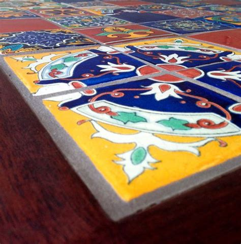handmade kitchen dining table authentic mexican tiles