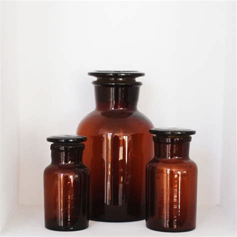 Apothecary bottle amber wide mouth 2k labware