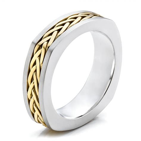 s braided two tone wedding band 100121