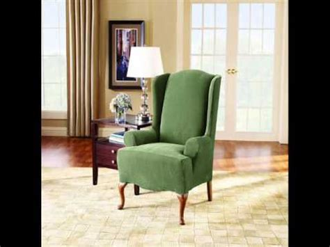 Ready Made Slipcovers For Chairs Sure Fit Stretch Pique Knit Wing Slipcover Tub Chair
