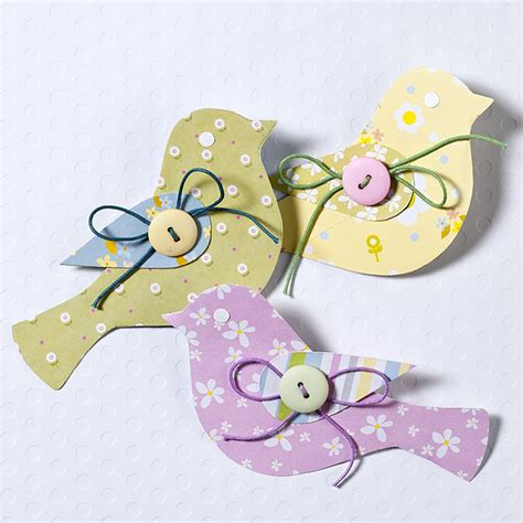 Pretty Scrapbooking Embellishments For Easter by Paper Bird Embellishment Tutorial For Easter Cards