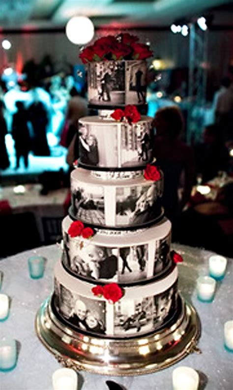 Wedding Cakes With Pictures On Them by 8 Ways To Display Photos At Your Wedding