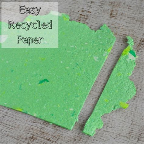 Your Own Paper - how to make your own recycled paper without a mold or deckle