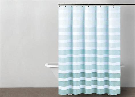 light blue striped curtains light blue and white striped shower curtain integralbook com