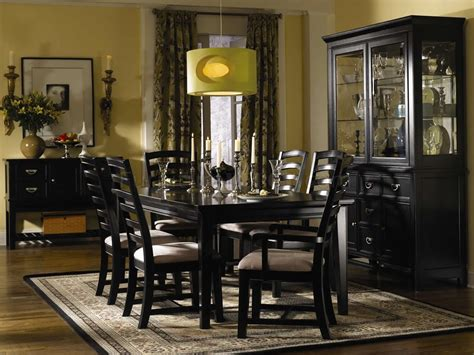 black dining room furniture black finish contemporary dining room w shiny silver hardware