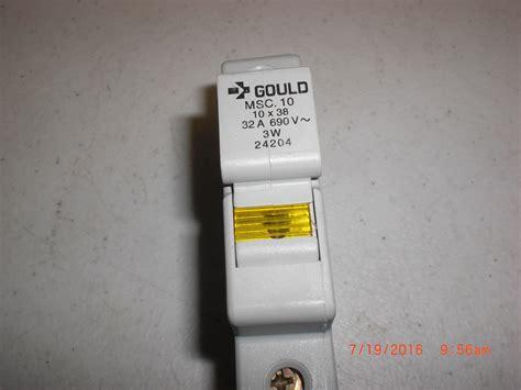 Fuse Holder Untuk Fuse 10x38 electrical gould msc 10 fuse holder w fuse 10x38 32a 690v