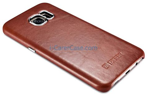 Samsung Original Leather Back Cover For Galaxy S7 Edge icarer samsung galaxy s7 edge vintage back cover series genuine leather