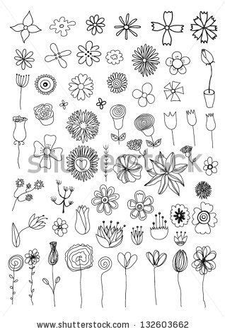 how to draw a doodle flower set of flower doodles by orfeev via mei
