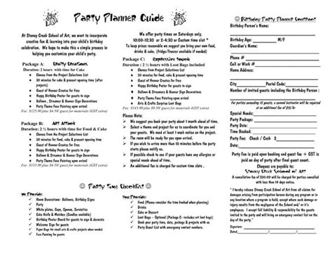 Party Planner Contract Template Google Search Event Planner 101 Pinterest Planners Birthday Contract Template