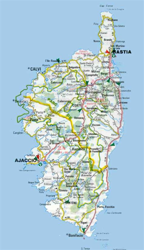 printable road map of sardinia popular 288 list corsica map