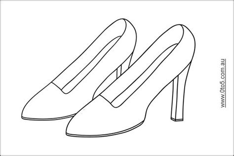 High Heel Printables Click Image For The Full Size Template Shoe Decorations Pinterest High Heel Shoe Template