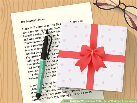 Wedding Anniversary Letter To by How To Write A Letter For A Wedding Anniversary