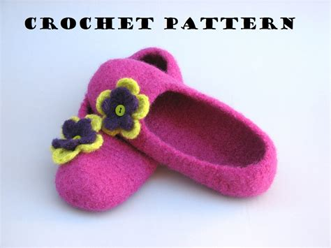 crochet slippers for beginners felted slippers crochet pattern pdf easy great for