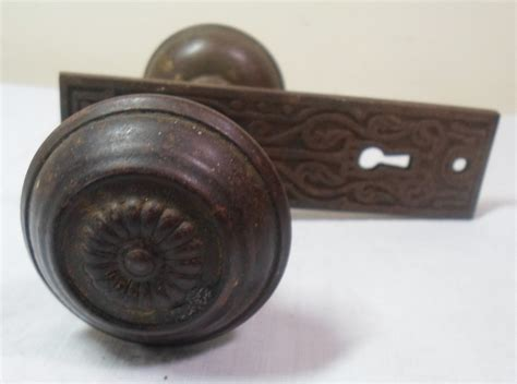 Antique Door Knobs by Antique Vtg Ornate Deco Embossed Door Knobs