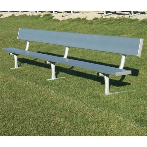 aluminum benches outdoor aluminum bench with backrest outdoor 24 ft