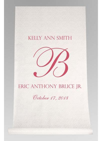 Pers Sweepstakes - db exc pers elegant names and initial aisle runner david s bridal