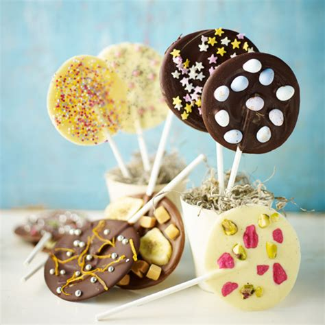 Handmade Chocolate Lollipops - mix and match chocolate lollipops housekeeping