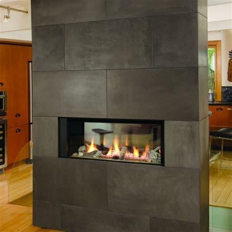 Sided Propane Fireplace by Valor L1 Linear Series 2 Sided Propane Fireplace