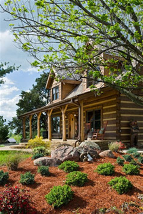 Landscape Timbers Louisville Ky Log Home With Barn Wood And Western Decor Traditional