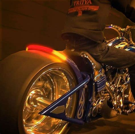 Led Light Bars For Motorcycles 1000 Images About Motorcycle Led Lights On Custom Baggers Honda And Road King
