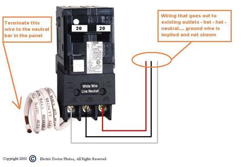 source 220v gfci breaker wiring diagram get free image