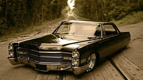 road retro cadillac forest road wallpapers and images